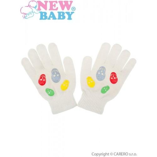 Dětské zimní rukavičky New Baby Girl cappuccino Béžová 122 (6-7 let)
