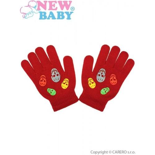 Dětské zimní rukavičky New Baby Girl oranžové Oranžová 122 (6-7 let)