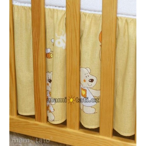 Mamo Tato Krásný volánek pod matraci - Balónek medový, 120x60