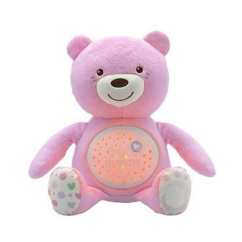 Hračka medvídek s projektorem - růžová