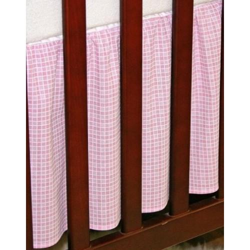 Krásný volánek pod matraci - Kostička růžová