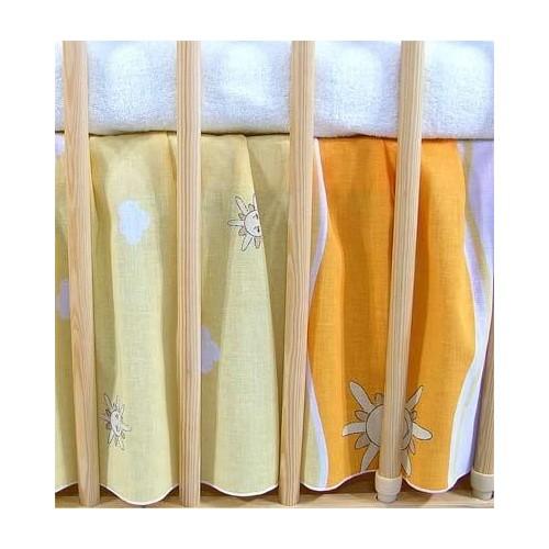 Darland VÝPRODEJ Krásný volánek pod matraci - Městečko pomeranč, 120x60