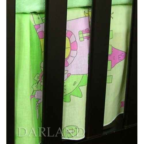 Darland VÝPRODEJ Krásný volánek pod matraci - Zámek zelený, 120x60