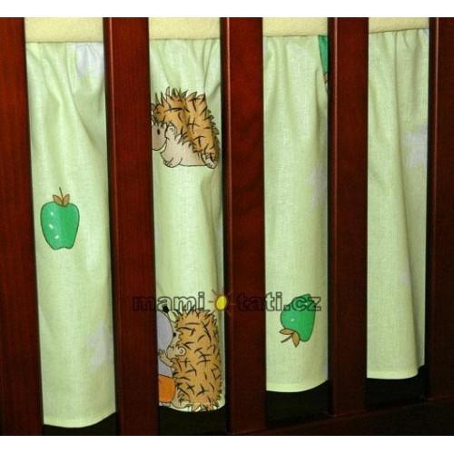 Mamo Tato Krásný volánek pod matraci - Ježek zelený, 120x60