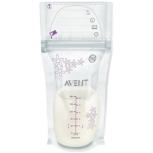 Sada sáčků na mléko Avent 180 ml - 25 kusů