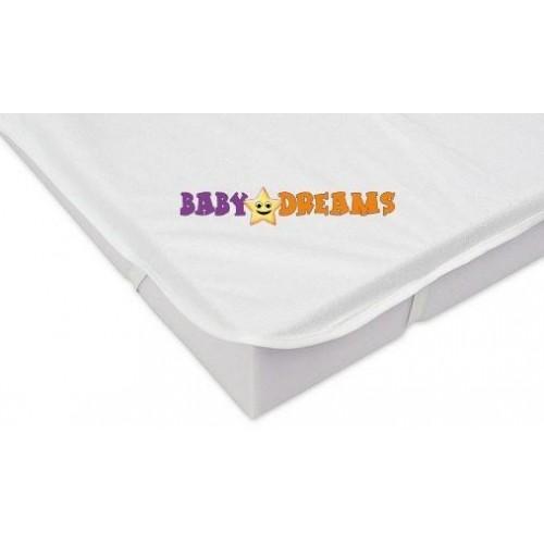 Baby Nellys Chránič matrace 120x60cm, bílý - kolekce Baby Dreams, 120x60