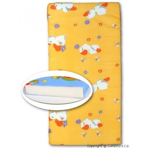Dětská pěnová matrace New Baby 120x60 oranžová - různé obrázky