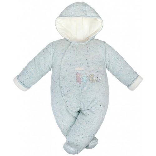 Zimní kojenecká kombinéza Baby Service Animals světle modrá Modrá 68 (4-6m)
