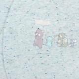 Zimní kojenecká kombinéza Baby Service Animals světle modrá Modrá 74 (6-9m)