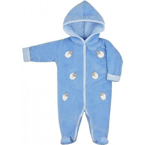 Zimní kojenecká kombinéza Bobas Fashion Ovečky modrá Modrá 68 (4-6m)