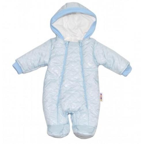 Kombinézka s kapuci Lux Baby Nellys ®prošívaná - sv. modrá, vel. 68, 68 (4-6m)