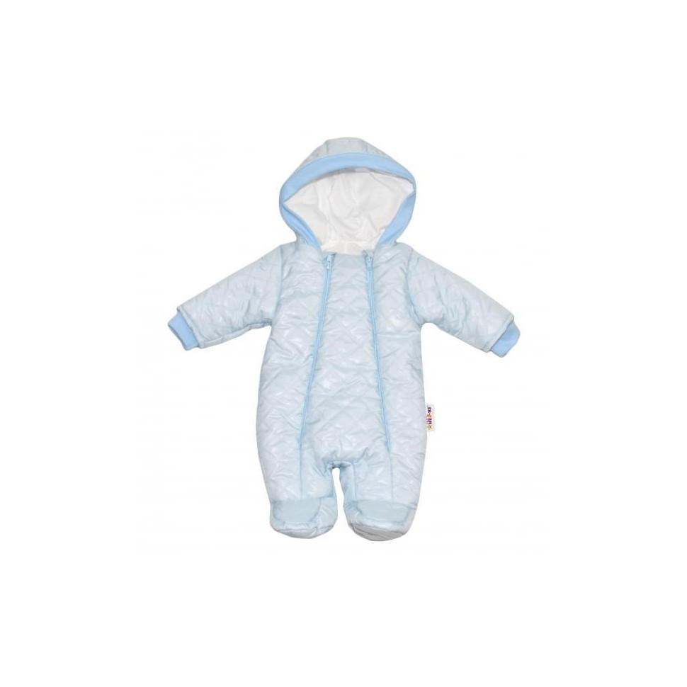 Kombinézka s kapuci Lux Baby Nellys ®prošívaná - sv. modrá, vel. 74, 74 (6-9m)