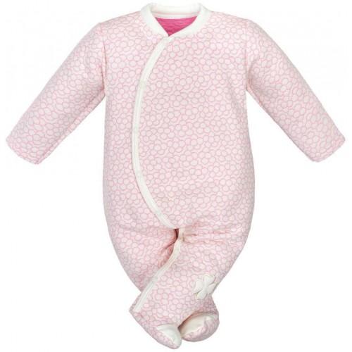 Kojenecká kombinézka Baby Service Čtyřlístek Růžová 74 (6-9m)