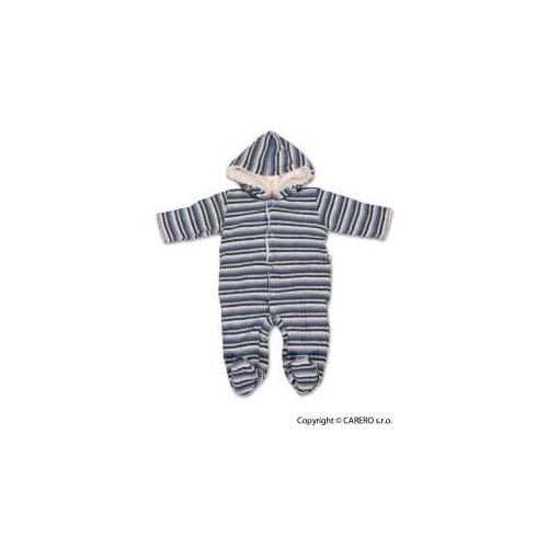 Fleecová kombinézka Baby Service Toulavé boty, vel. 80(9-12m), Modrá