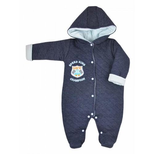 Zimní kojenecká kombinéza Koala Champion tmavě modrá Tmavě modrá 62 (3-6m)