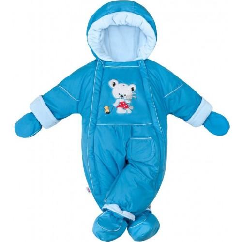 Zimní kombinéza 2v1 New Baby Winter modrá Modrá 74 (6-9m)
