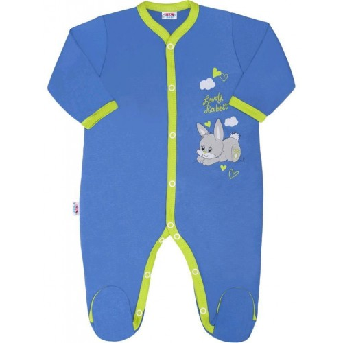 Dětský overal New Baby Lovely Rabbit Modrá 56 (0-3m)