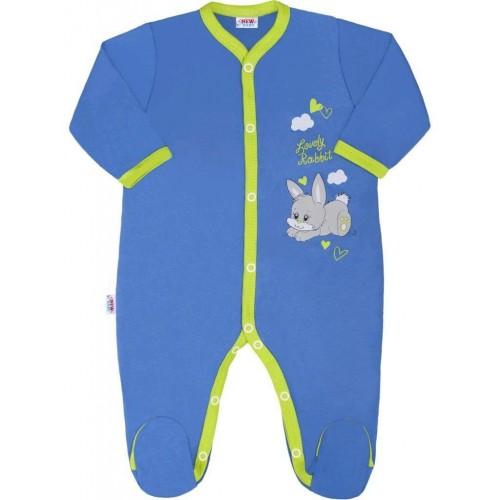 Dětský overal New Baby Lovely Rabbit Modrá 74 (6-9m)