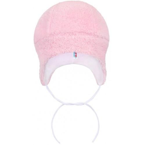 Zimní čepička New Baby Nice Bear růžová Růžová 80 (9-12m)