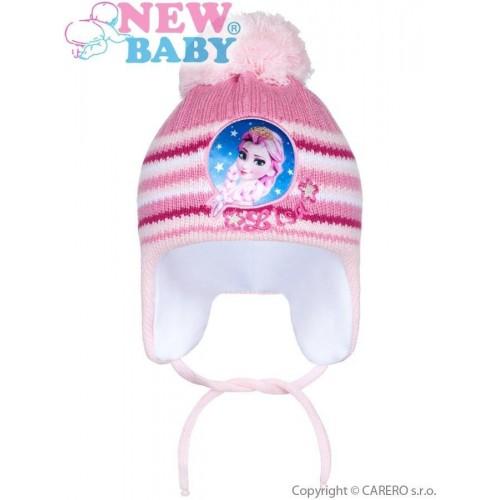 Zimní dětská čepička New Baby Lisa světle růžová Růžová 104 (3-4r)