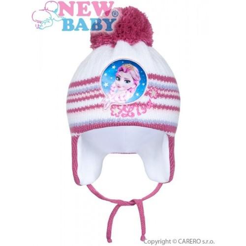 Zimní dětská čepička New Baby Lisa tmavě růžová Růžová 104 (3-4r)