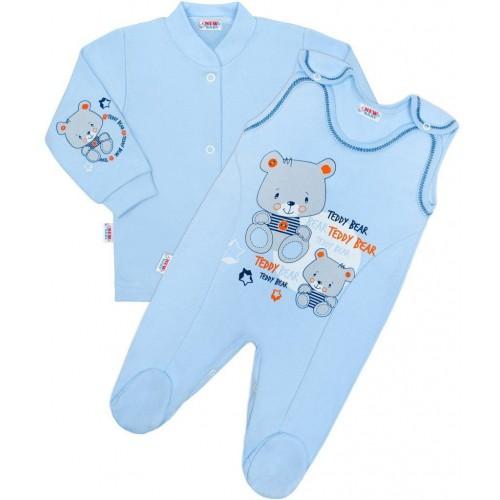 2-dílná souprava New Baby teddy modrá Modrá 68 (4-6m)