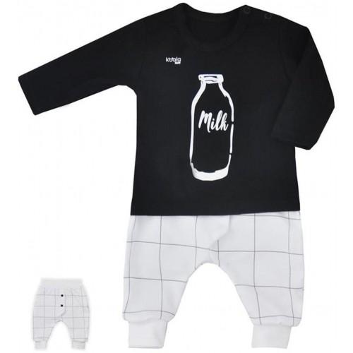 2-dílná kojenecká souprava Koala MILK černá Černá 80 (9-12m)