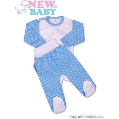 2-dílná souprava New Baby Puntík modrá Modrá 56 (0-3m)