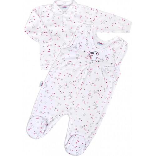 Kojenecká souprava New Baby Magic Star růžová Růžová 74 (6-9m)