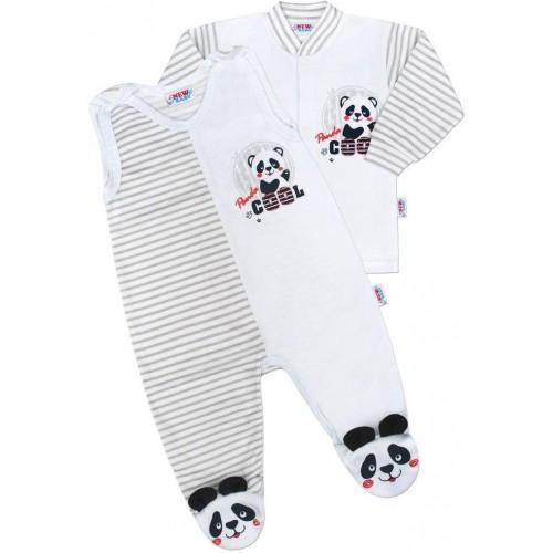 Kojenecká souprava New Baby Panda Šedá 56 (0-3m)