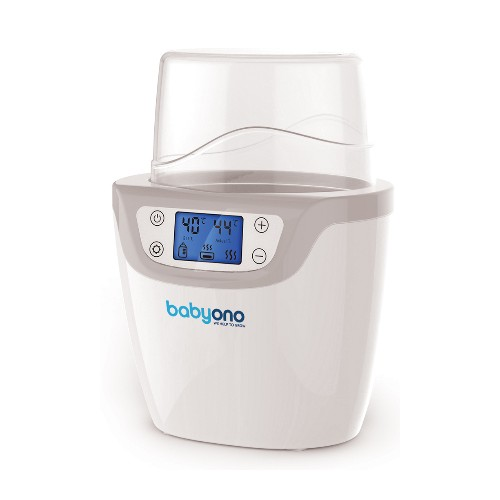 BabyOno Digitální ohřívač láhví 2v1 se sterilizátorem - LCD