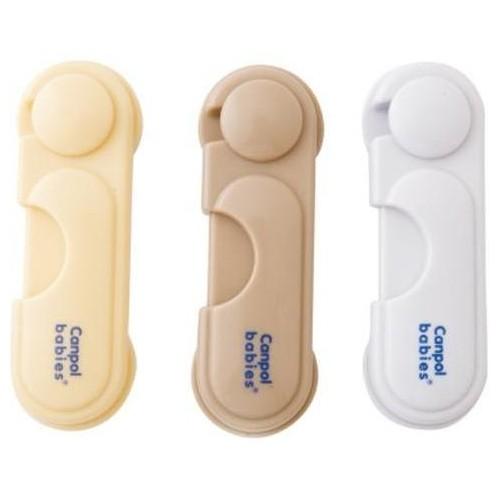 Uzávěr skřínek Canpol Babies - 1 ks - žlutý/cream
