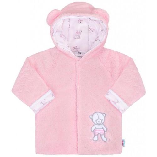 Zimní kabátek New Baby Nice Bear růžový Růžová 56 (0-3m)