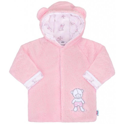 Zimní kabátek New Baby Nice Bear růžový Růžová 62 (3-6m)
