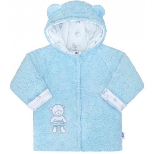 Zimní kabátek New Baby Nice Bear modrý Modrá 62 (3-6m)