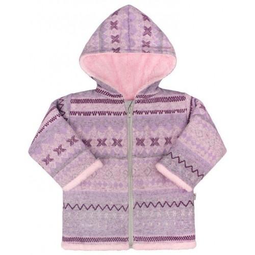 Zimní kojenecký kabátek Baby Service Etnik zima růžový Růžová 68 (4-6m)