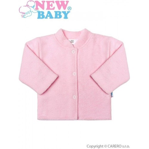 Kojenecký froté kabátek New Baby růžový Růžová 86 (12-18m)