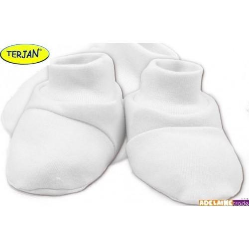 TERJAN Botičky/ponožtičky BAVLNA - bílé