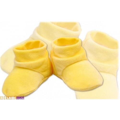 TERJAN Botičky/ponožtičky VELUR - krémové