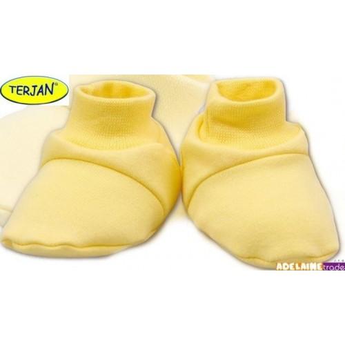 Botičky/ponožtičky BAVLNA - krémové