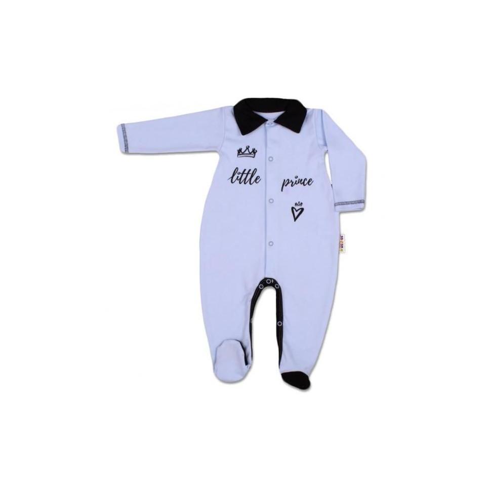 Baby Nellys Bavlněný overálek Little Prince - modrý, vel. 68, 68 (4-6m)