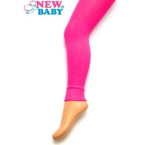 Bavlněné jednobarevné legíny New Baby růžové Růžová 92 (18-24m)