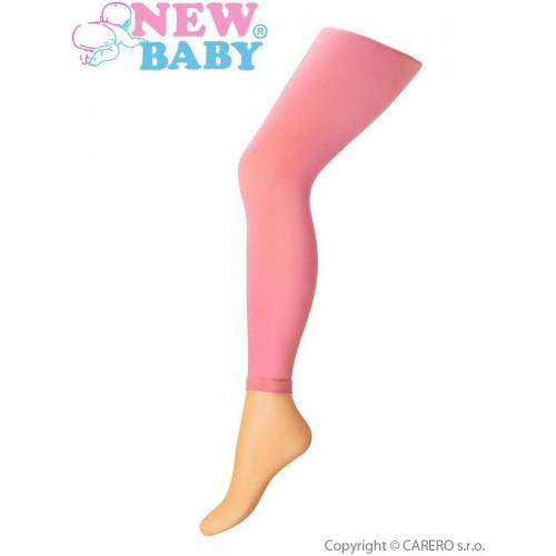 Tenké jednobarevné legínky New Baby růžové Růžová 128 (7-8 let)