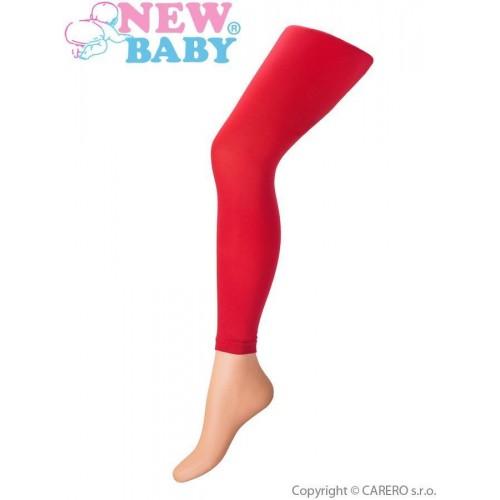 Tenké jednobarevné legínky New Baby červené Červená 152 (11-12r)