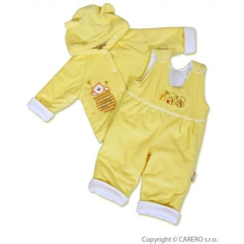 Kojenecká zimní souprava New Baby medvídek žluto-bílá Žlutá 74 (6-9m)