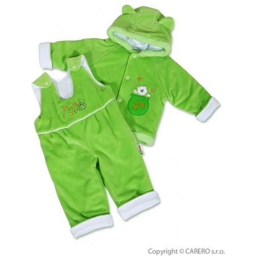 Kojenecká zimní souprava New Baby medvídek zeleno-bílá Zelená 80 (9-12m)