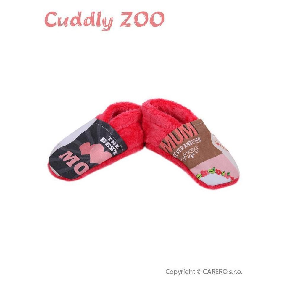 Bačkůrky Cuddly Zoo Máma M korálová Červená