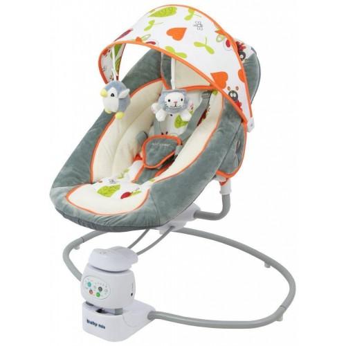 Dětské lehátko 2v1 Baby Mix grey