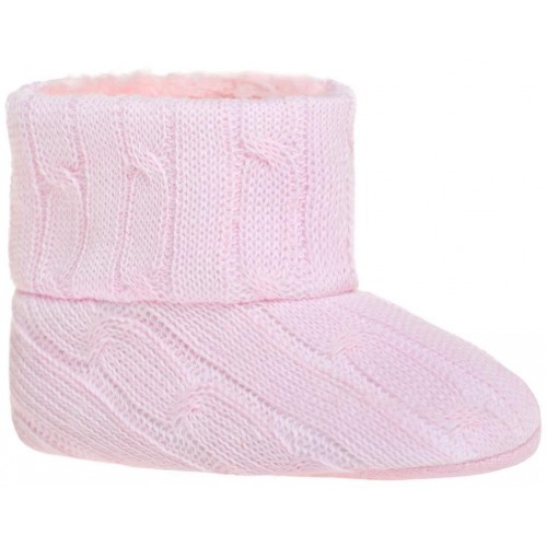 Dětské zimní capáčky Bobo Baby 6-12m růžový úplet Růžová 80 (9-12m)