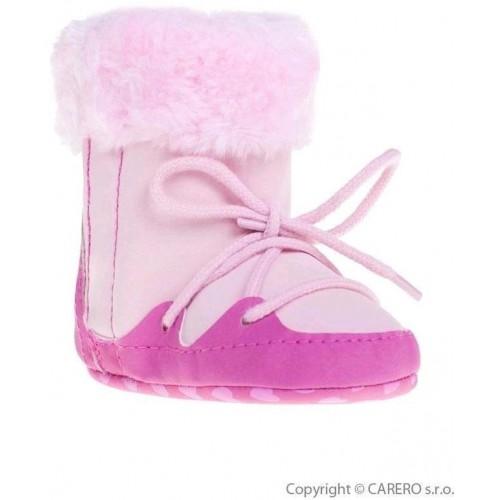 Dětské zimní capáčky Bobo Baby 6-12m růžové Růžová 74 (6-9m)